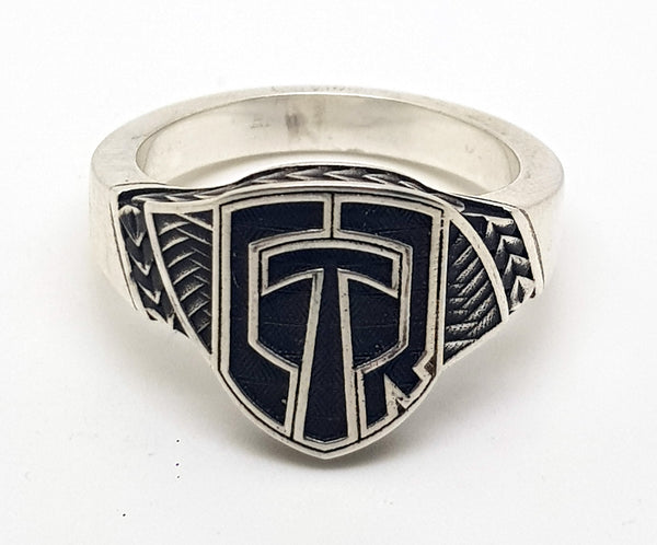Polynesian Tribal Shield Ring #T153