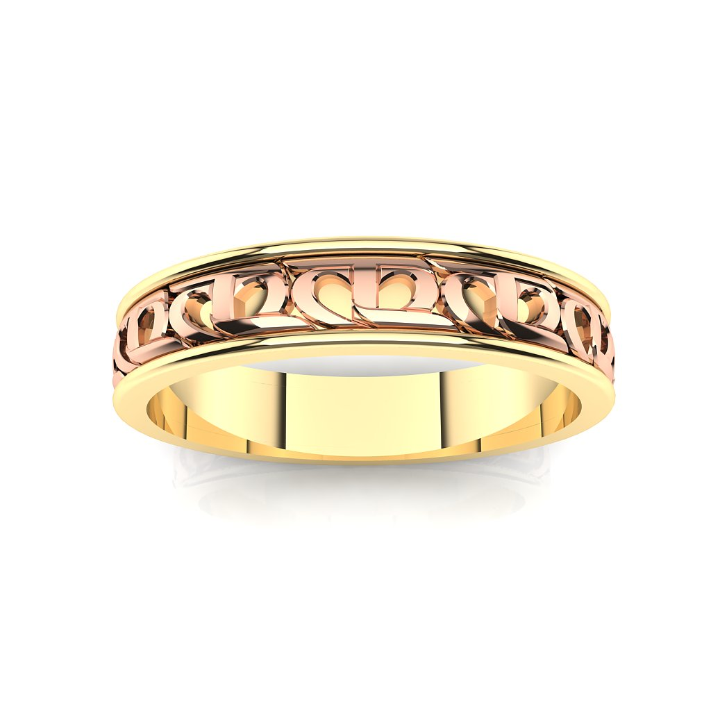 CTR Ladies Wedding Ring 2 Tone 29344