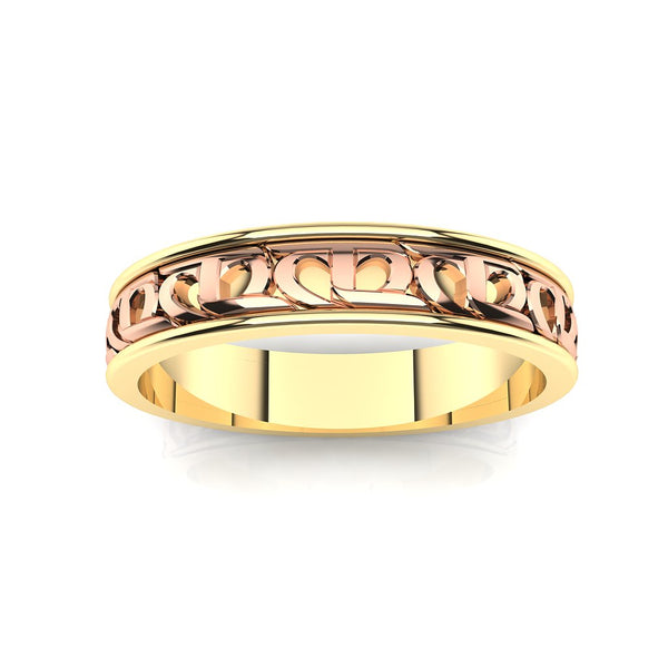 CTR Ladies Wedding Ring 2 Tone, 14K #293