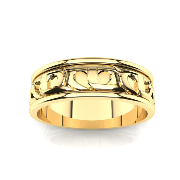 CTR Mens Wedding Ring, 14K #303