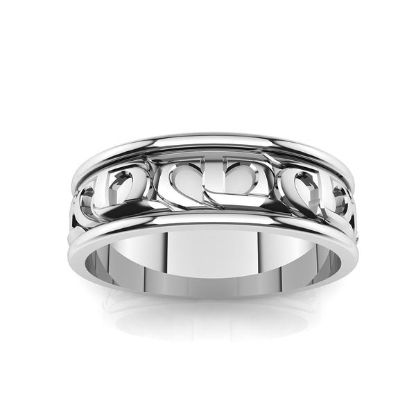 CTR Mens Wedding Ring, Silver #303