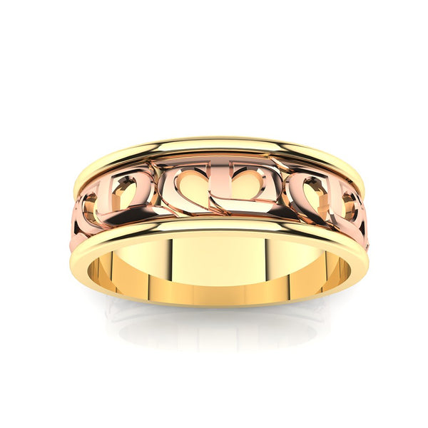 CTR Mens Wedding Ring 2-Tone, 14K #313