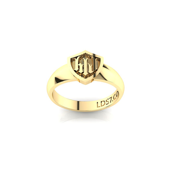 HLJ Gothic Shield Ring. Escudo Gótico, 14K #813