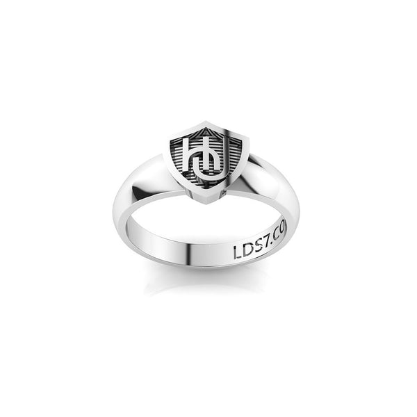 HLJ Embrace Shield Ring. Escudo Abrazo, Silver #843