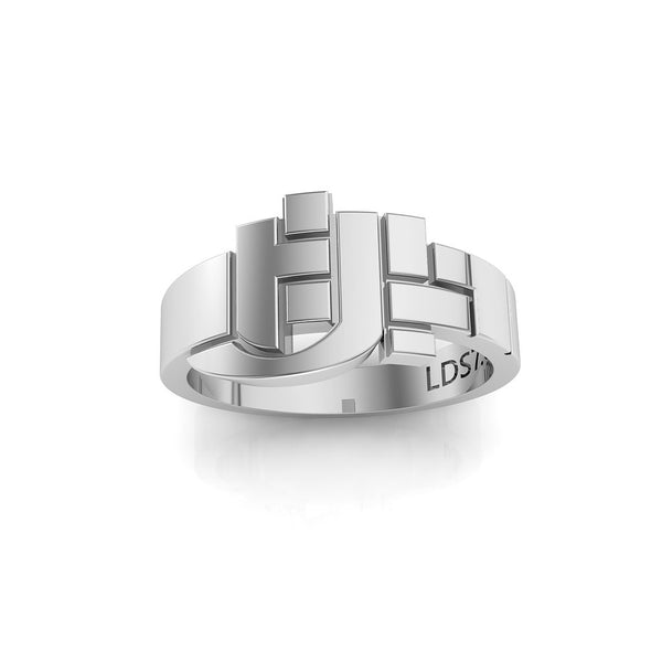 HLJ Puzzle Ring. Rompacabeza, Silver #883