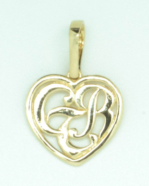 CTR Heart Necklace, Framed, 14K Gold #124