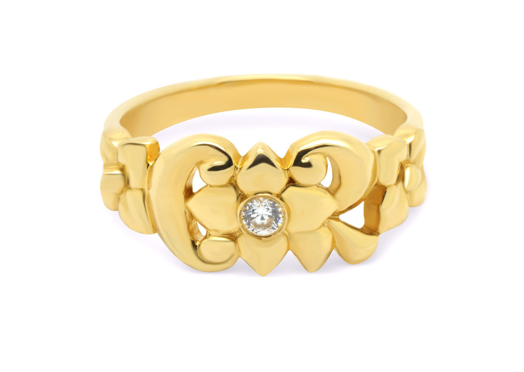 CTR Blossom Ring, Gold, Stone-set #213