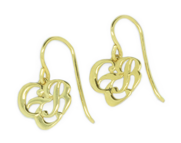CTR Heart Earrings, Plain, 14K #115