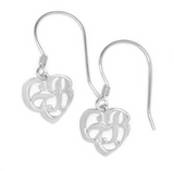 CTR Heart Earrings, Plain, Silver #115