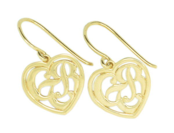 CTR Heart Earrings, Framed, 14K #125