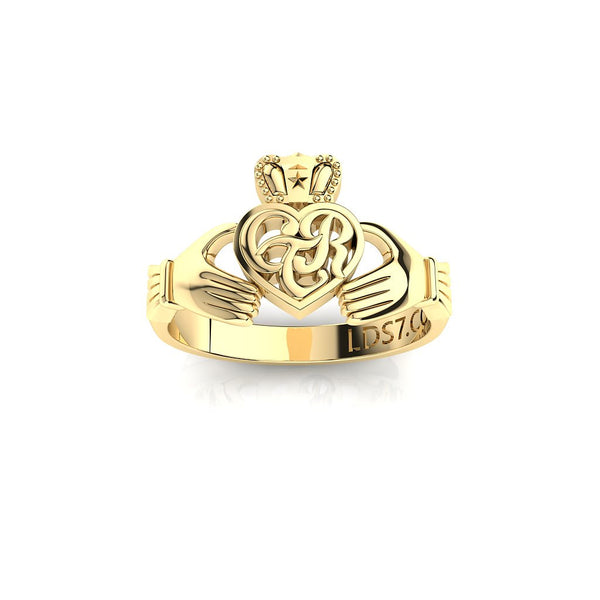 CTR Irish Claddagh Ring, 14K #163