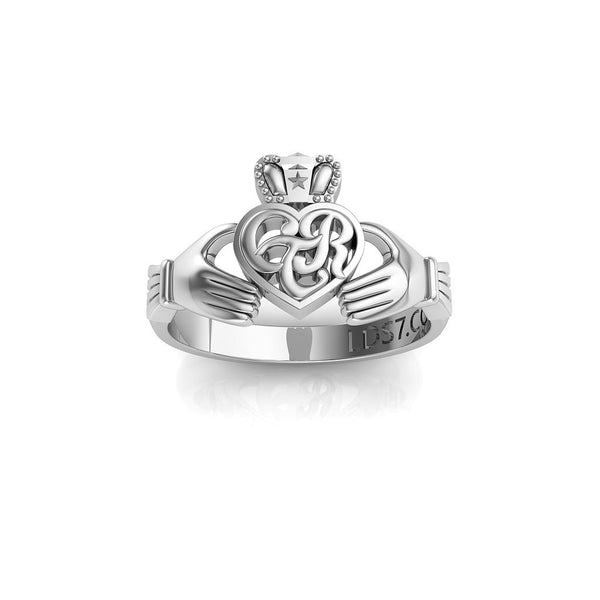 CTR Irish Claddagh Ring, Silver #163
