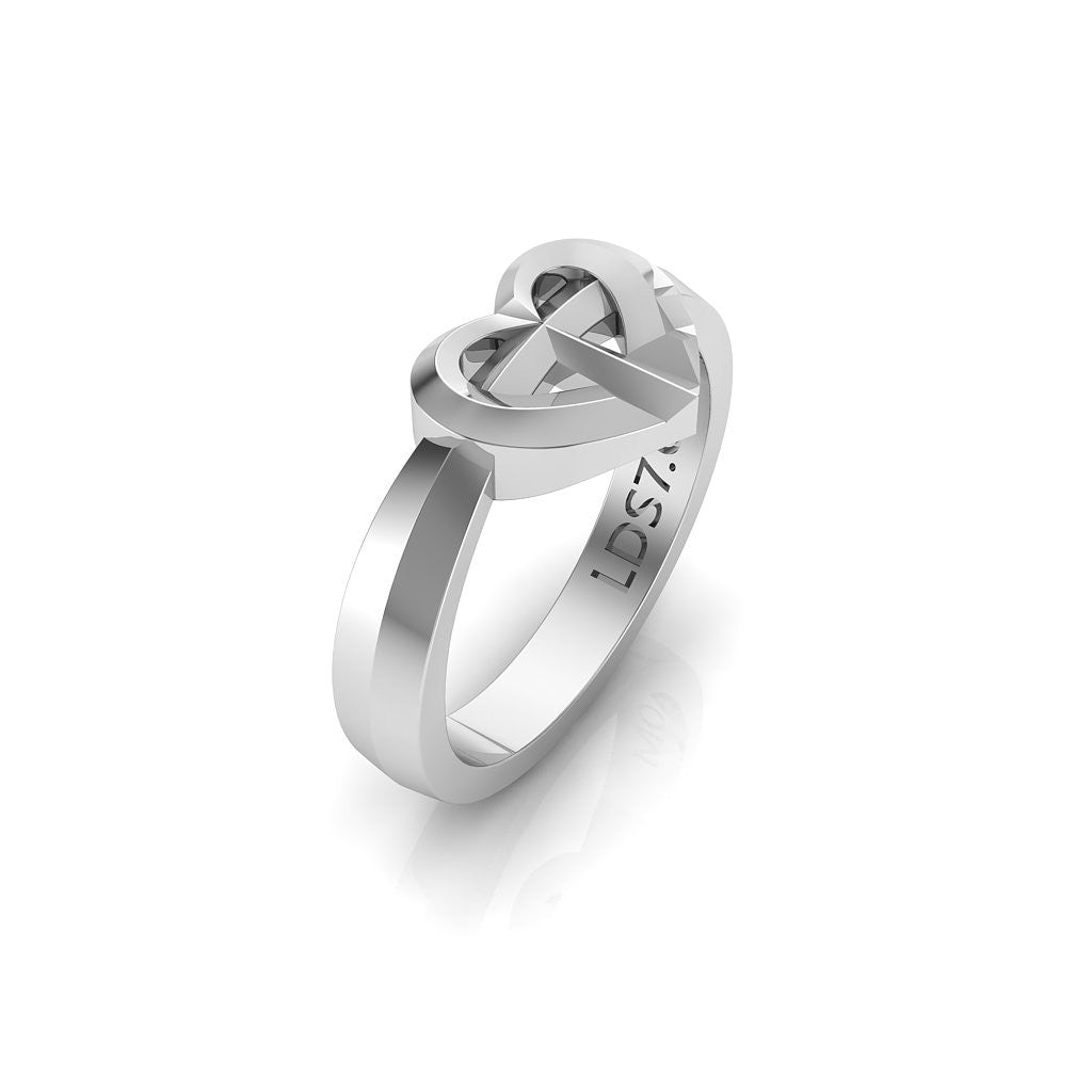 CTR Heart Facets Ring, Silver #693
