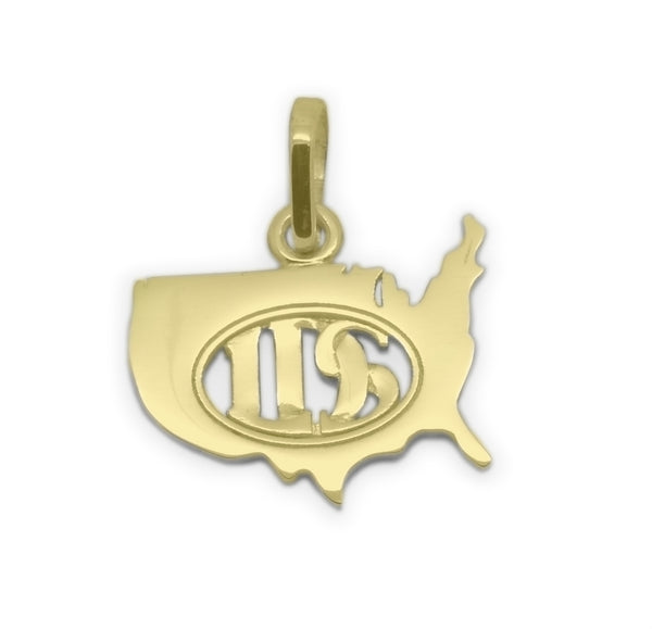 LDS USA Necklace, 14K Gold