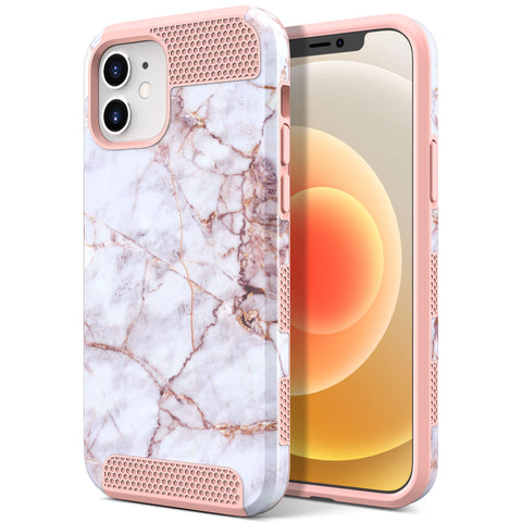 Dual Layer Style Case for iPhone 12/12 Pro (Crable Marble)