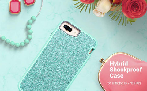 Blue Bling iPhone 6/7/8 Plus Case