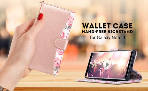 The Rose Gold Galaxy Note9 Folio Wallet