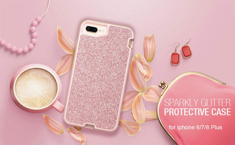 Pink Sparkle iPhone 6/7/8 Plus Case