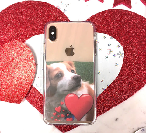 Clear DIY iPhone XS Max Case for Valentine's Day