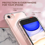 Hard clear case compatible with iPhone 7/8/SE. Made with Hard PC and flexible TPU, slim design and cute flower pattern printed offer extra protection and scratch resistant, without adding extra bulk to your iPhone.