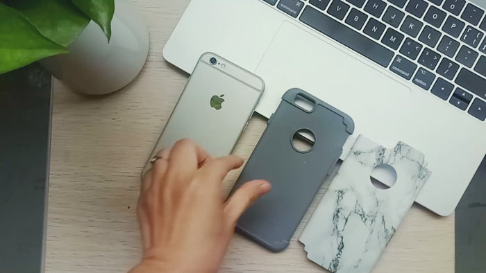 Marble Pattern Dual Layer Style Case for iPhone 6/6S - Ulakcases