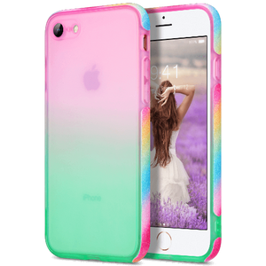 Colorful phone cover designed for Apple iPhone SE 2nd Generation & iPhone 8 and iPhone 7 4.7 inches, makes you and iPhone 7/8/SE 2020 look more fashionable and attractive. Featuring raised bumper to lift screen and camera off flat surface provides maximum protection for your iPhone screen from shattering or crack.