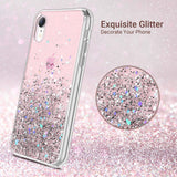 Glitter Case for iPhone XR (2018) 6.1 inch not fit other iPhones. glitters don't fade or flake off. Reinforced bumper corners provide drop protection, raised bezels keep screen and camera scratchproof Precise cutouts and responsive buttons allow easy access to all functions, support wireless charging exquisite glitter decorate your iPhone