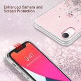 Glitter Case for iPhone XR (2018) 6.1 inch not fit other iPhones. glitters don't fade or flake off. Reinforced bumper corners provide drop protection, raised bezels keep screen and camera scratchproof Precise cutouts and responsive buttons allow easy access to all functions, support wireless charging enhanced camera and screen protection