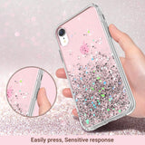 Glitter Case for iPhone XR (2018) 6.1 inch not fit other iPhones. glitters don't fade or flake off. Reinforced bumper corners provide drop protection, raised bezels keep screen and camera scratchproof Precise cutouts and responsive buttons allow easy access to all functions, support wireless charging full access to all functions, sensitive response
