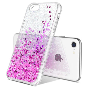 Glitter Case for iPhone 7/8/SE (2020) 4.7 inch not fit other iPhones. glitters don't fade or flake off. Reinforced bumper corners provide drop protection, raised bezels keep screen and camera scratchproof Precise cutouts and responsive buttons allow easy access to all functions, support wireless charging