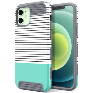 Dual Layer Grid Style Case for iPhone 12 Mini - Ulakcases