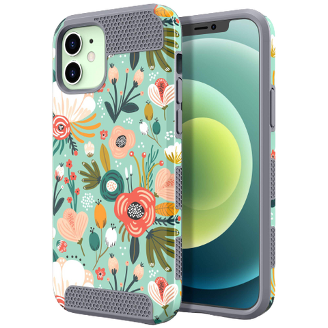 Dual Layer Style Case for iPhone 12/12 Pro (Floral)