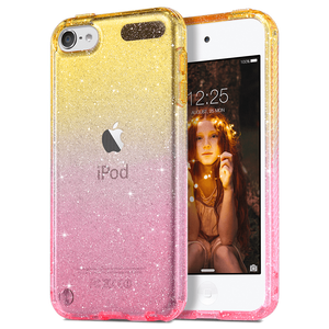 Slim Gradient Color Clear Glitter Case for iPod Touch 5/6/7 - Ulakcases