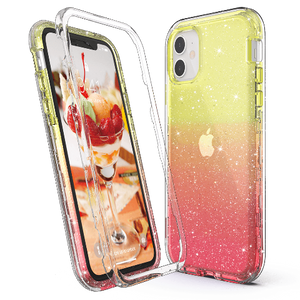 M-series Bling Sparkle Gradient Color Clear Case for iPhone 11 - Ulakcases