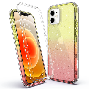 Sparkle clear case for iPhone 12, not fit other devices. Glitters blend in the case don't fade or flake off. All PC & TPU raw materials come from Germany, super anti-yellowing materials provide long-lasting clarity to show original beauty of your iPhone.