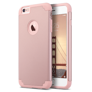 Rose Gold Hybrid slim dual layer protective fit for Apple iPhone 6 Plus / 6S Plus 5.5 inch, Will Not Fit any other device; made from Polycarbonate hard back cover+ flexible Silicone inner core dual layer protection from scratches and chips from accumulating.