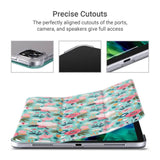 Floral Pattern 11 Inches PU Leather Folio Smart Stand Cover designed for  iPad Pro 11 inch 2020 2nd Generation and iPad Pro 11 inch 2018, Not fit other iPads premium PU leather with soft microfiber lining and clear back cover provides protection against fingerprints and scratches Auto wake & sleep function in use Precise cutouts designed for full access to all functions like ports, camera and speakers