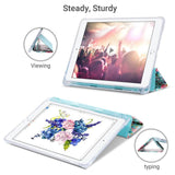 10.2 Inches PU Leather Folio Smart Stand Cover designed for  iPad 7/iPad 8, Not fit other iPads premium PU leather with soft microfiber lining and clear back cover provides protection against fingerprints and scratches Auto wake & sleep function in use floral pattern steady and sturdy in use