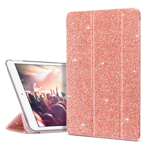 Slim Trifold Smart Case Glitter Cover for iPad 7/ iPad 8 - Ulakcases