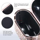 PU leather glitter case compatible with Apple AirPods 1st and 2nd generation. Precise cutouts enable wire charging with case on. It support wireless charging; Front LED is visible when charging. cute glitter case attached with a carabiner, ideal gift for girls and women; Includes 1 x AirPods 1/2 Gen Case 1 x Carabiner