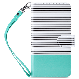 Mint Premium PU leather wallet case with a detachable wrist strap specially designed only for iPhone 7 plus/8 plus 5.5 inch. Built with 9 card slots and a money pocket so you can carry around your ID, credit and debit cards, cash. Strong magnetic closure secure the full body protection