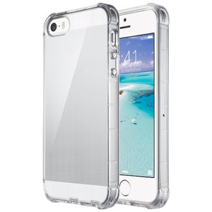 Clear case for iPhone 5/5S/SE (2016), not fit other versions. Hybrid prime quality hard PC and soft TPU material. Transparent back and flexible/soft TPU bumper is designed for protection, resistant polycarbonate UV coating--no watermarks, scratches, or fingerprints.