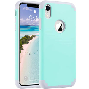 PC Silicone Dual Layer Case for iPhone XR 6.1 inch (2018) not fit other iPhones Unique pattern won't fade or flake off. Reinforced bumper corners provide drop protection raised bezels keep screen and camera scratchproof Precise cutouts and responsive buttons allow easy access to all functions, support wireless charging