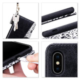 Premium PU leather wallet case with a detachable wrist strap specially designed only for iPhone XS Max 6.5 inch (2018) store cards and cash for daily use. Strong magnetic closure secure the full body protection while the kickstand hold the device with multi-angles, convenience for video watching with hands free.  Attached hand wrap can be used as keychain while precise cutouts allow full access to all functions like charging or camera