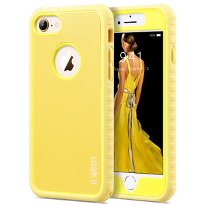 Dual Layer Style Yellow Case for iPhone 7/8 hybrid slim dual layer protective fit for Apple iPhone 7/8 4.7 inch, Will Not Fit any other device; made from Polycarbonate hard back cover+ flexible TPU inner core dual layer protection from scratches and chips from accumulating. Yellow color