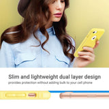 Slim and lightweight dual layer design provide protection without adding bulk to your cell phone hybrid slim dual layer protective fit for Apple iPhone 7/8 4.7 inch, Will Not Fit any other device; made from Polycarbonate hard back cover+ flexible TPU inner core dual layer protection from scratches and chips from accumulating. Yellow color