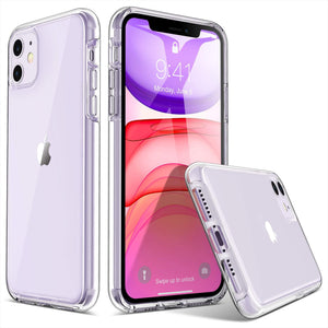 HD Clear case for iPhone 11 6.1 inch (2019), not fit other versions. Hybrid prime quality hard PC and soft TPU material Raised lips protect the screen and camera from scratches Slim and lightweight to support wireless charging Precise cutouts and responsive buttons allow easy access to all functions.
