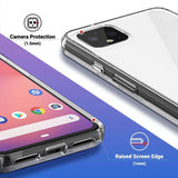Raised edge protect camera and screen from scratches Designed for Google Pixel 4 XL 2019 released. Made with a strong Polycarbonate and TPU material, the slim design and ultra-transparent color offers extra protection and scratch resistance, without compromising style. Support wireless charging.