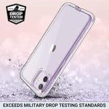 Clear case for iPhone 11 6.1 inch (2019), not fit other versions. Hybrid prime quality hard PC and soft TPU material Raised lips protect the screen and camera from scratches Slim and lightweight to support wireless charging Precise cutouts and responsive buttons allow easy access to all functions.