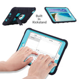 Triple Layers Sturdy Case for Apple iPad Mini 1/2/3 7.9 inches (2012/2013/2015) Model: A1599, A1600, A1489, A1490, A1491, A1432, A1454 and A1455; Not fit other iPads hybrid hard scratchproof PC interior with soft shockproof silicone exterior kids friendly easy for carrying Raised bezel protect the screen when face down